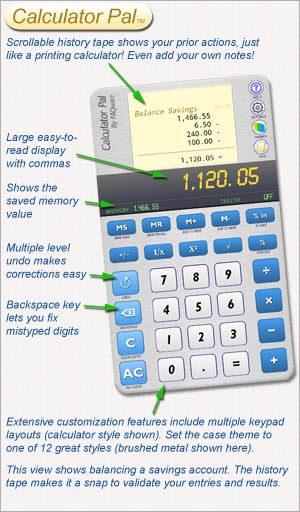 Calculator Pal with History Tape